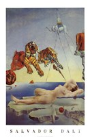 Dream Caused by the Flight of a Bee Around a Pomegranate, A Second Before Awakening, c.1944 Wall Poster