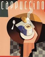 "Cubist Cappuccino by Eli Adams - 11"" x 14"""