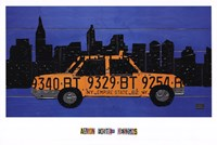"""Nyc Taxi Cab by Aaron Foster - 36"""" x 24"""", FulcrumGallery.com brand"""