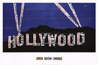 "Hollywood Sign At Night by Aaron Foster - 36"" x 24"""