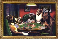 Dogs Playing Poker Wall Poster