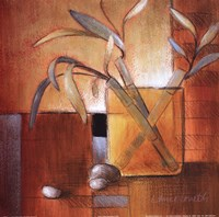 Afternoon Bamboo Leaves III Fine Art Print