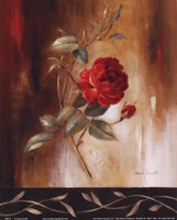 Crimson Rose I Fine Art Print