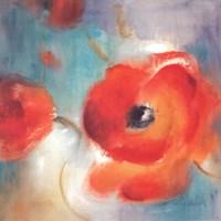 Scarlet Poppies In Bloom II Fine Art Print