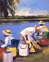 """Fishing I by Jane Slivka - 16"""" x 20"""""""