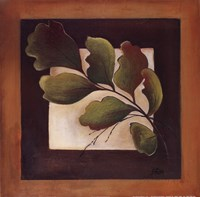"""Leaves Over Brown I by Patricia Pinto - 12"""" x 12"""""""