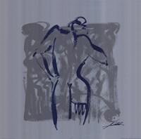 Body Language VIII (silver) Framed Print