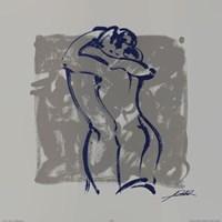 Body Language IX (silver) Fine Art Print