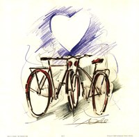 Bicycle Romance Fine Art Print