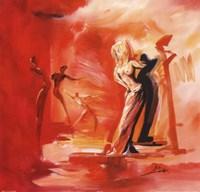 Romance in Red I Framed Print