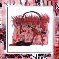 "Magazine Mania Shoes II by Marina Addison - 10"" x 10"", FulcrumGallery.com brand"