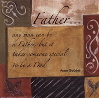 Words to Live By - Father Fine Art Print