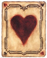 Card Suits - Hearts Fine Art Print
