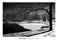 "Heritage Pond In Winter by Monte Nagler - 40"" x 28"""