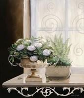 Flowers at the Window I Fine Art Print