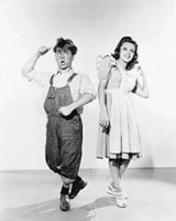 """Judy Garland and Mickey Rooney by Gerard Paul Deshayes - 11"""" x 14"""""""