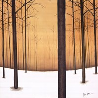"28"" x 28"" Winter Trees"