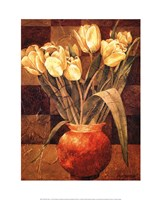 "Checkered Tulips I by Linda Thompson - 16"" x 20"", FulcrumGallery.com brand"