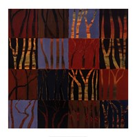 """Red Trees II by Gail Altschuler - 28"""" x 28"""""""