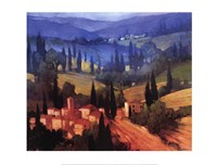 Tuscan Valley View Framed Print