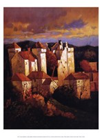 "Curemont Medieval by Max Hayslette - 12"" x 16"""