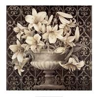 Lilies in Urn Fine Art Print