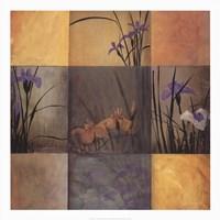 """Iris Nine Patch by Don Li-Leger - 40"""" x 40"""""""