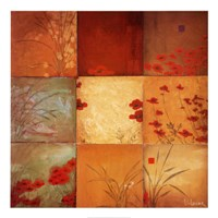 "Poppy Nine Patch by Don Li-Leger - 40"" x 40"""