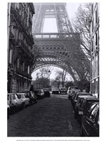 "Street View of ""La Tour Eiffel"" Fine Art Print"