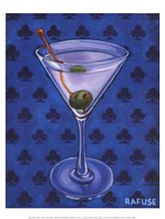 Martini Royale - Clubs Framed Print