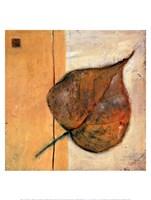 Leaf Impression - Ochre Fine Art Print