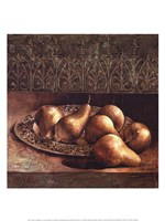 Pears on a Platter Fine Art Print