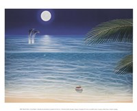 Moonlit Palms Framed Print