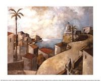 Camino del Faro Framed Print