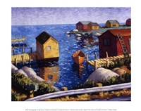 The Orange Boat Fine Art Print