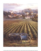 Grapes on Blue Wagon Fine Art Print