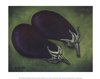 Two Eggplants Fine Art Print