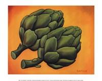 Two Artichokes Fine Art Print