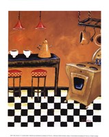 "Retro Kitchen III by Krista Sewell - 10"" x 12"""