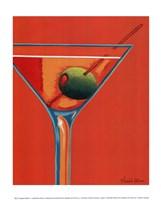 Sunglow Martini I Framed Print