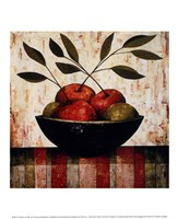Fruit Bowl on Silk Fine Art Print