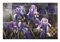 """Iris Garden by Fangyu Meng - 39"""" x 28"""""""
