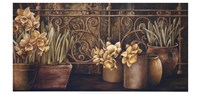 Ironwork with Daffodils Fine Art Print