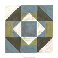 """Patchwork Tile III by Vanna Lam - 24"""" x 24"""""""