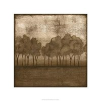 "Trees At Dusk II by Nancy Slocum - 22"" x 22"""