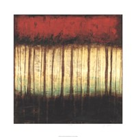 "Autumnal Abstract II by Jennifer Goldberger - 30"" x 30"""