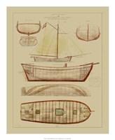 "Antique Ship Plan III by Gerard Paul Deshayes - 18"" x 22"""