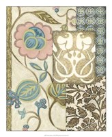 Nouveau Tapestry I Framed Print