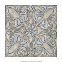 "Silver Filigree V by Megan Meagher - 12"" x 12"""