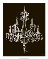 Elegant Chandelier I Framed Print